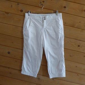 Free People White Waistband Elastic Crop Pants 6